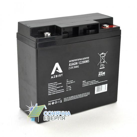 Акумуляторна батарея Azbist ASAGM-12V 20Ah 0M5