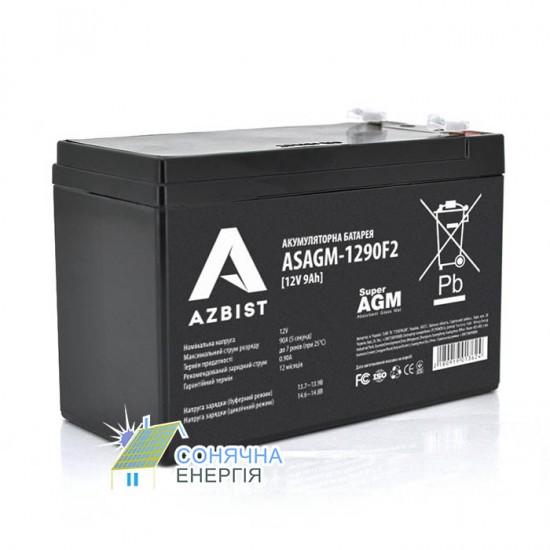 Акумуляторна батарея Azbist ASAGM-12V 9Ah 0F2