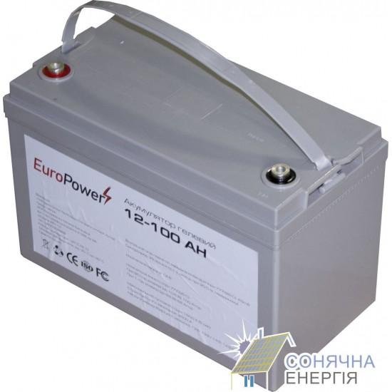 Акумуляторна батарея EuroPower GL12-100 Аh