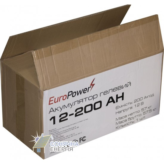 Акумуляторна батарея EuroPower GL12-200 Аh