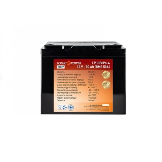 Акумуляторна батарея LP LiFePO4 12V - 90 Ah (BMS 50A)