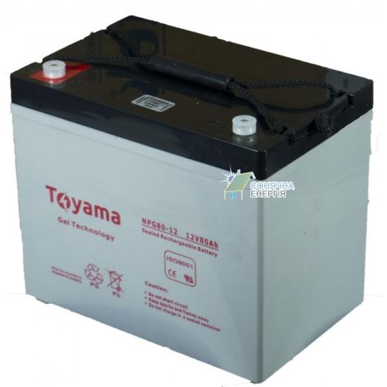 Акумуляторна батарея Toyama NPG80-12
