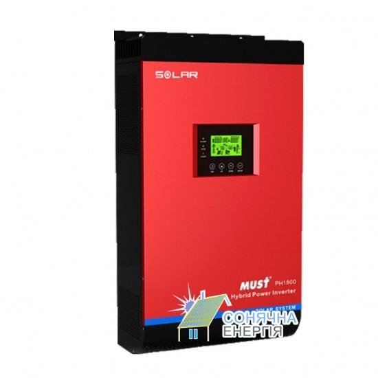 Гібридний інвертор MUST PH1800 MPK Plus Series PH18-5K MPK Plus