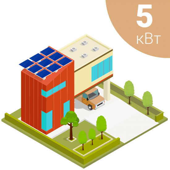 Автономна сонячна електростанція на 5 кВт