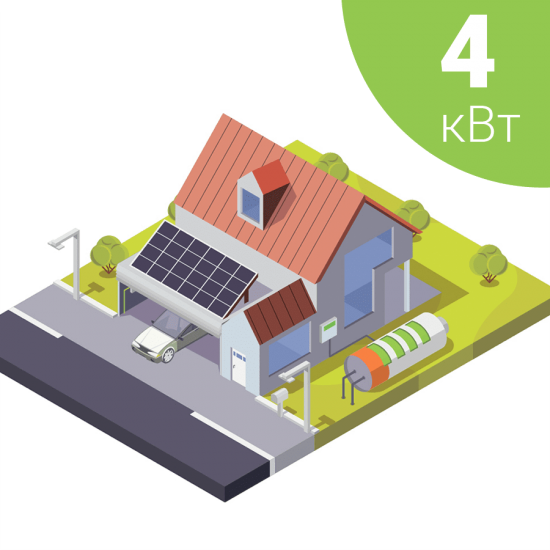 Гібридна сонячна електростанція на 4 кВт