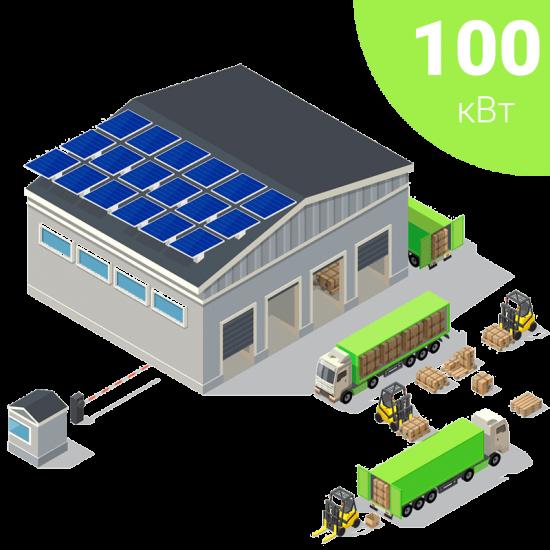 Мережева сонячна електростанція на 100 кВт для власного споживання та бізнесу