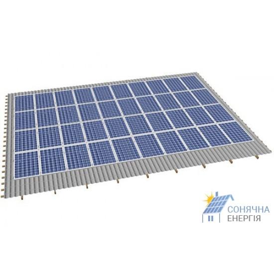 Система кріплень 40 сонячних панелей на дах