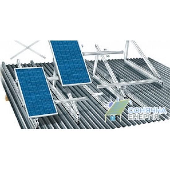 Система кріплень 8 сонячних панелей на дах