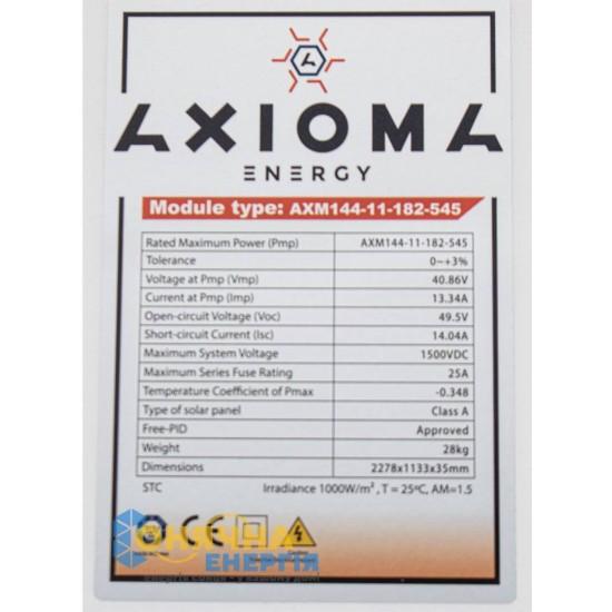 Сонячна панель Axioma Energy AXM144-11-182-545M